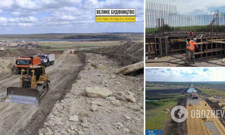 По программе Зеленского строят новый 100-метровый мост возле Новой Одессы